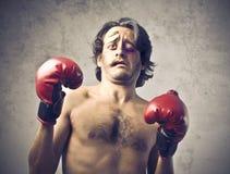 Geschlagener Boxer Stockbild