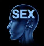 Geschlecht auf dem Gehirn Stockfotos