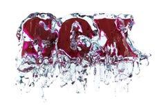 Geschlecht im Wasser Lizenzfreies Stockfoto