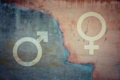 Geschlechterkluft- und Sexungleichheitskonzept lizenzfreie stockfotografie