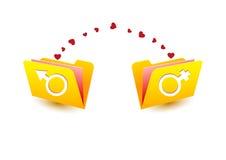 Geschlechts-vektorsymbole Stockfotos