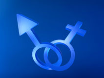 Geschlechts-Zeichen Stockfotografie