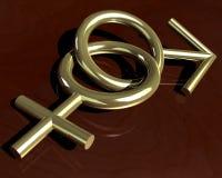 Geschlechtssymbole Stockfotografie
