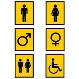 Geschlechtszeichen Stockbild
