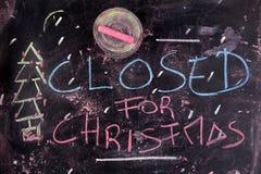 Geschlossen für Weihnachten stockbild