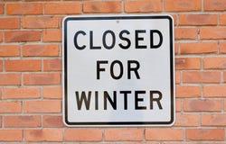 Geschlossen für Winter Lizenzfreies Stockbild