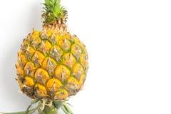 Geschlossen herauf Ananas auf weißem Hintergrund Lizenzfreie Stockbilder