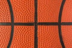 Geschlossen herauf Ansicht des Basketballs für Hintergrund Basketball Lizenzfreie Stockfotografie