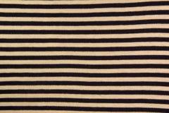 Geschlossen herauf Beschaffenheit eines dunkelblauen und weißen Streifengewebes lizenzfreies stockbild