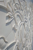 Geschlossen herauf Dekoration auf berühmtem Abu Dhabi Sheikh Zayed Mosque, MA Stockbild