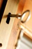GESCHLOSSEN - Schlüsselsicherheit Stockbild