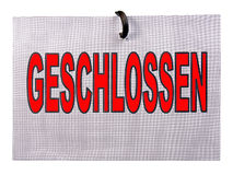 Geschlossen sign Royalty Free Stock Photography