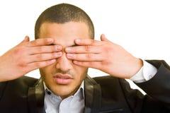 Geschlossene Augen Stockbild