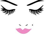 Geschlossene Augen und Lippen Lizenzfreies Stockbild