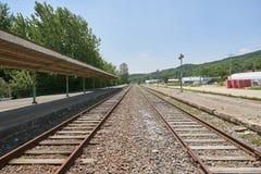 Geschlossene Bahnstation, alte Bahnstation in Korea Lizenzfreies Stockbild