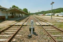 Geschlossene Bahnstation, alte Bahnstation in Korea Lizenzfreie Stockfotografie