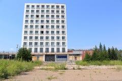 Geschlossene Fabrik Sibvolokno Zelenogorsk Stockfotografie