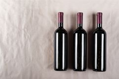 geschlossene Flaschen Wein Lizenzfreie Stockfotografie