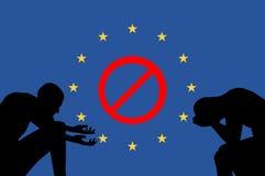 Geschlossene Grenzen in Europa lizenzfreie abbildung