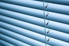 Geschlossene Jalousien oder Fensterläden Stockfoto