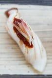 Geschlossene-Oben in Brand gesetzte Gelbschwanzfisch-Sushi Hamachi Lizenzfreies Stockfoto