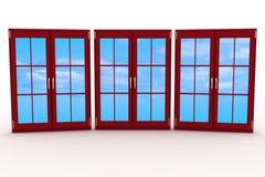 geschlossene Plastikfenster 3d Lizenzfreie Stockfotos