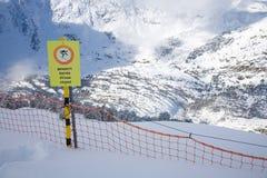 Geschlossene Skisteigung Stockfotos