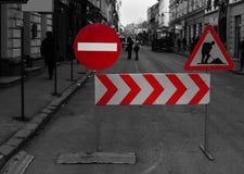 Geschlossene Straße Stockbild