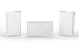 Geschlossene weiße Blase aufgefüllter Umschlag mit Beschneidungspfad Lizenzfreies Stockfoto