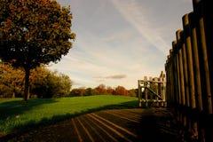 Geschlossener Bereich des Beckton Parks Stockfoto