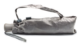 Geschlossener grauer Regenschirm Lizenzfreies Stockbild