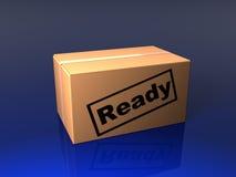 Geschlossener Kasten mit Stempel lizenzfreie abbildung