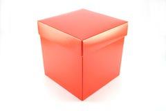 Geschlossener roter Kasten Stockbilder