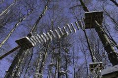 Geschlossener Schnee umfasste Schritte einer Dschungel-Turnhalle Lizenzfreies Stockfoto