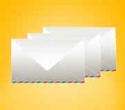 Geschlossener Umschlag drei Stockbilder