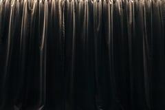 Geschlossener Vorhang von schwarzen Samtvorhängen Lizenzfreies Stockfoto