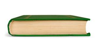 Geschlossenes Buch in der grünen Abdeckung zur Seite Lizenzfreie Stockfotos