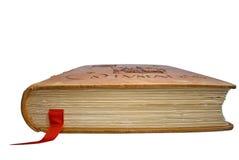 Geschlossenes Buch mit einem Bookmark Lizenzfreie Stockbilder