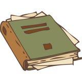 Geschlossenes Buch mit heftigen Seiten Lizenzfreies Stockfoto