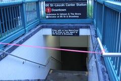 Geschlossenes der Untergrundbahnen wegen des Hurrikans Irene Lizenzfreie Stockfotos