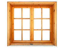 Geschlossenes hölzernes Fenster Stockbilder