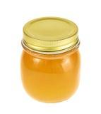 Geschlossenes Honigglas Stockfotografie