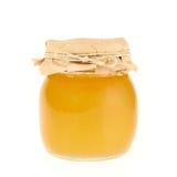 Geschlossenes Honigglas Stockbild
