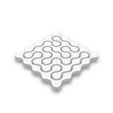 Geschlossenes Labyrinth 3D Weißes abstraktes Labyrinth mit dem fallengelassenen Schatten lokalisiert auf weißem Hintergrund Firme Vektor Abbildung