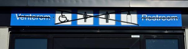Geschlossenes Toiletten-Zeichen Stockfotografie