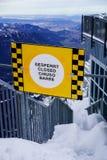 Geschlossenes Zeichen der Bergspitze Stockfotos