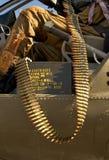 Geschlungene Munition Stockbild