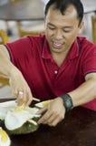 Geschmack der Durianfrucht Stockfotos