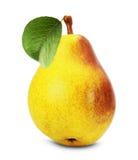 Geschmackvolle Birne auf dem weißen Hintergrund Stockfoto