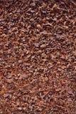 Geschmackvolle chocolalate Krume, strukturierter Hintergrund Stockfoto